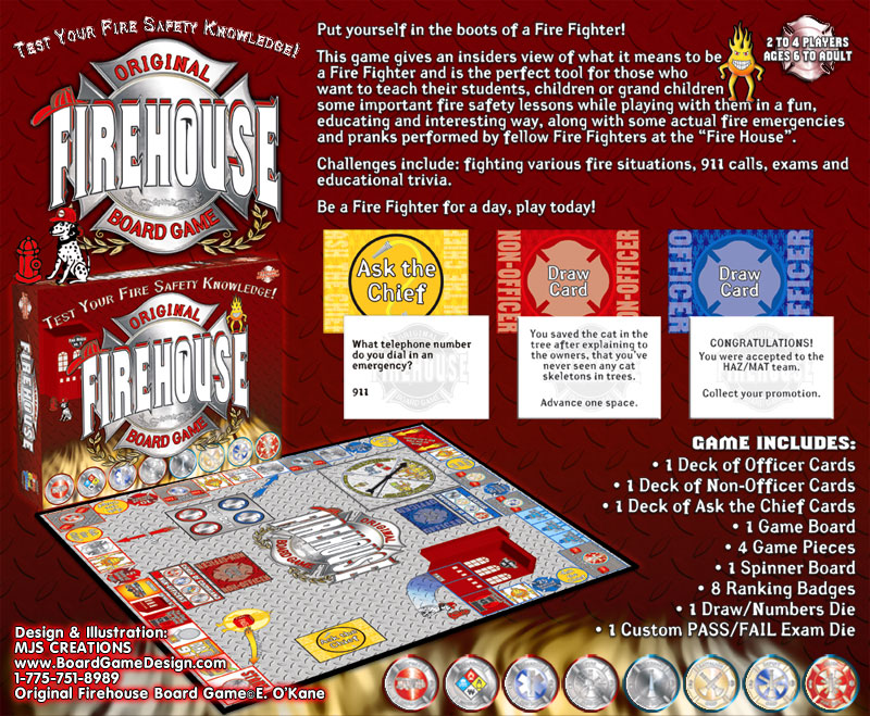Original Firehouse Board Game©E. O©Kane
