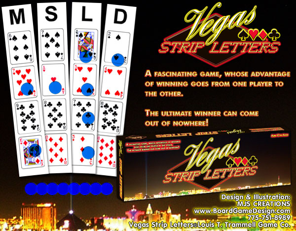 Vegas Strip Letters©Louis T. Trammell Game Co.